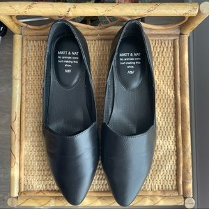 MATT & NAT Westmount vegan leather black flats